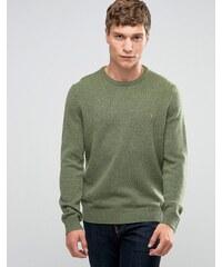 Farah - Pull en laine d'agneau - Vert