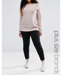Brave Soul Plus - Skinny-Jeans - Schwarz