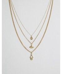 Cara Jewellery Cara NY - 3-reihige Halskette - Gold