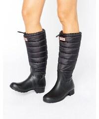 Hunter - Bottes en caoutchouc authentiques matelassées - Noir - Noir