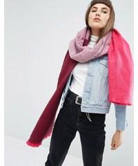 ASOS - Longue écharpe tissée ultra douce en color block - Rose