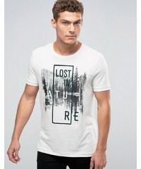 United Colors of Benetton - Lost in Nature - T-shirt à imprimé - Blanc