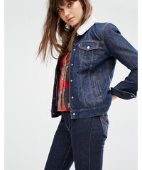 Levis Levi's Relaxed Fit Denim Jacket with Borg Collar - Bleu