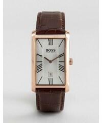 BOSS By Hugo Boss - Admiral - Montre en cuir classique avec cadran carré - Marron