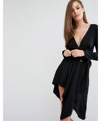 Stylestalker - Maia - Langärmliges Kleid mit Ringdetail - Schwarz