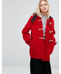 Gloverall - Monty - Manteau mi-long - Rouge - Rouge