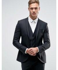 Noak - Veste de costume super cintrée à col ouvert - Noir