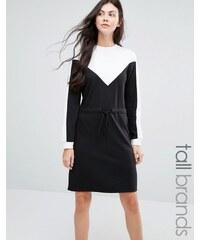 Daisy Street Tall - Robe sweat color block - Noir