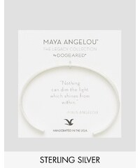 Maya Angelou Legacy by Dogeared - Nothing Can Dim The Light From Within - Manchette en plaqué argent avec inscription gravée - Argenté