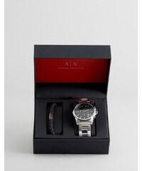 Armani Exchange - Outerbanks - Geschenkset mit Chronograph & Armband - Silber