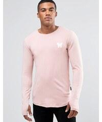 Good For Nothing - Langärmliges Shirt mit kleinem Logo - Rosa