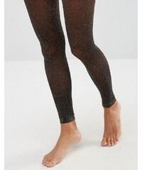 ASOS - Collants pailletés sans pieds - Doré