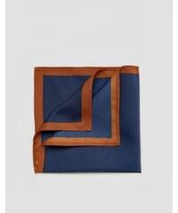ASOS - Pochette à bordure contrastante - Bleu marine - Bleu