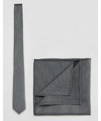 ASOS - Ensemble cravate et pochette - Gris - Gris