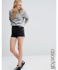 ASOS TALL - Short mom en jean - Noir - Noir