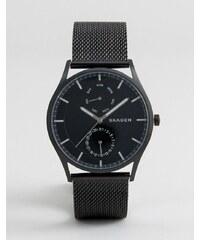 Skagen - SKW6318 Holst - Montre chronographe avec bracelet en maille - Noir 40 mm - Noir