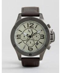 Armani Exchange - AX1519 - Chronograph mit Lederarmband in Braun - Braun