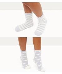 New Look Zartblaue Socken mit Herz- und Streifenmuster, 2er-Pack