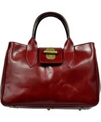 Červené kožené italské kabelky Balda Rossa