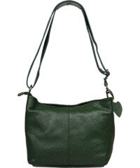 Zelená kožená kabelka Batilda Verde Scura
