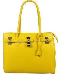 Italské kožené kabelky Azra Grande Gialla