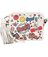 Anya Hindmarch Sacs à Bandoulière, All Over Wink Stickers Crossbody Circus Chalk en blanc