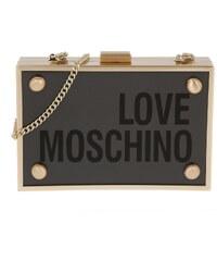 Love Moschino Sacs de Soirée, Metal Framed Plexiglas Minaudiere Black/Gold en or, noir