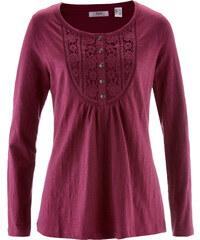 bpc bonprix collection T-shirt manches longues en fil flammé violet femme - bonprix