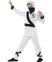 Dětský kostým Ninja bílo-černý Pro věk (roků) 10-12