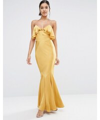ASOS Cami Ruffle Front Maxi Dress with Fishtail - Doré