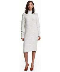 H&M Pletené šaty s rolákem