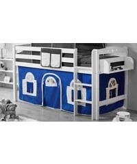 Kinder TICAA Ticaa Vorhang-Set Landhausoptik blau