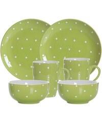 Frühstück-Set Keramik 6 Teile PINTO RITZENHOFF & BREKER grün