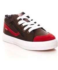 Levi's Kids Alban - Sneakers en cuir mélangé - marron