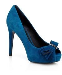 Guess Harlo - Chaussures à talon en cuir - bleu