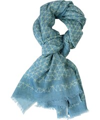 Le Secret des Eléphants Foulard en laine - bleu