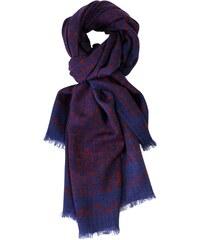 Le Secret des Eléphants Foulard en laine - indigo