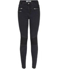 New Look Teenager – Schwarze Skinny-Jeans mit Reißverschlusstaschen