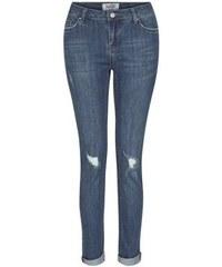New Look Teenager – Blaue Skinny-Jeans mit zerrissenen Knien