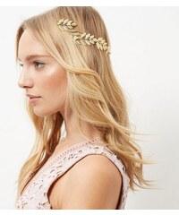 New Look Goldfarbenes, griechisch inspiriertes Haarband mit Blättern