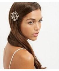 New Look Haarbrosche mit dunkelgrauem Schmetterling