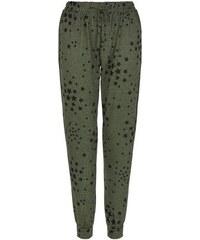 New Look Khakigrüne Jogginghose mit Sternenmuster