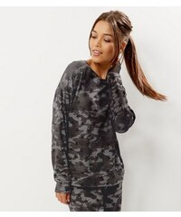 New Look Khakifarbener, leichter Pullover mit Camouflage-Muster