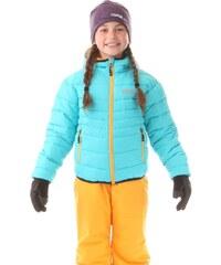 Dětská dvoubarevná zimní bunda Nordblanc Allegiance tyrkysová