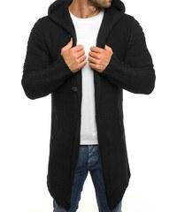 Madmext Dlouhý černý svetr s knoflíky