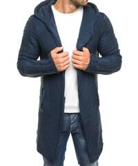 Madmext Dlouhý tmavě modrý svetr s knoflíky