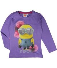 E plus M Dívčí tričko Mimoni - fialové