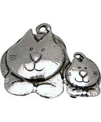 Lili La Pie Broches Broche en métal argenté de la collection CATS Placide