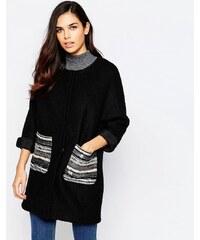 Jovonna - Assis - Manteau avec poches métallisées - Noir