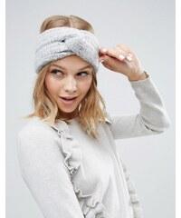 ASOS - Flauschiges Strick-Haarband - Grau